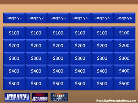 Blank Jeopardy Template Jeopardy Templates For Powerpoint Jeopardy Powerpoint 2007 Template