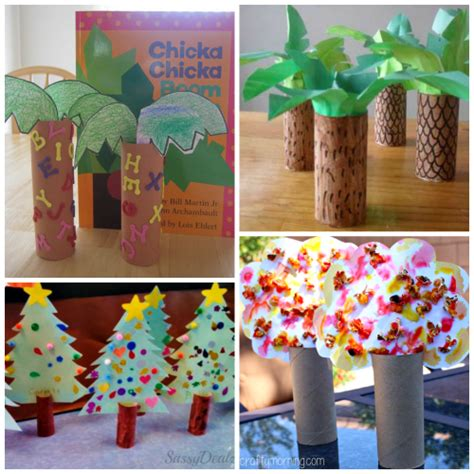 Craft Ideas Using Paper - toilet paper roll tree craft ideas for crafty morning