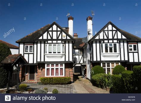 houses to buy in england houses in mock tudor style in the suburb of finchley london england stock photo