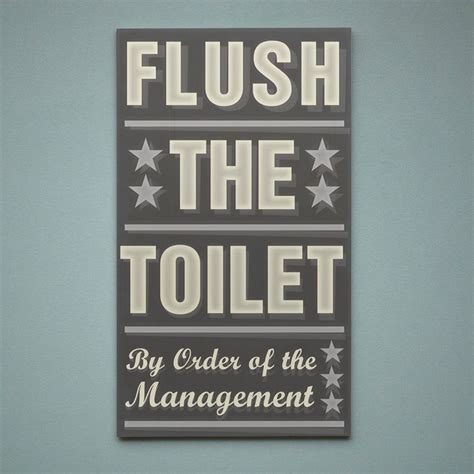 bathroom word art neutral bathroom art flush the toilet by order of the