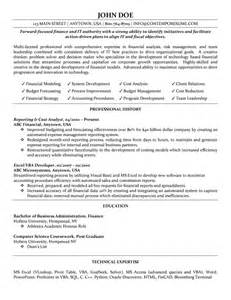 Exle Finance Resume by Cost Analyst Resume