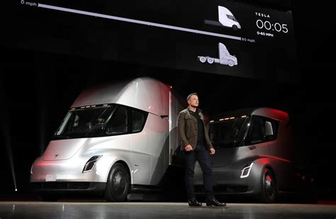 elon musk electric truck tesla s electric semi truck gets orders from wal mart and