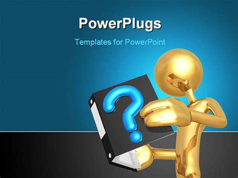 powerpoint templates questions a concept and presentation figure in 3d powerpoint