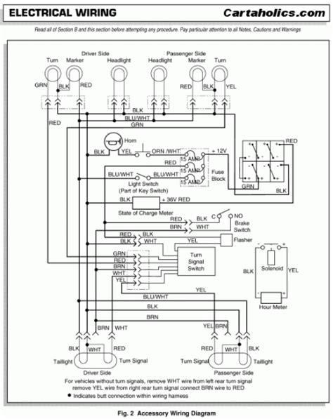 ez  golf cart wiring diagram