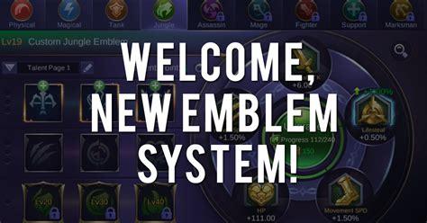 baru di mobile legend emblem baru mobile legends revivaltv