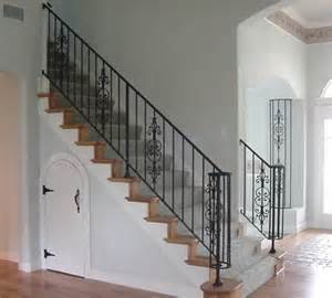 Interior Stair Rail Interior Wrought Iron Stair Rail And Column Cover With