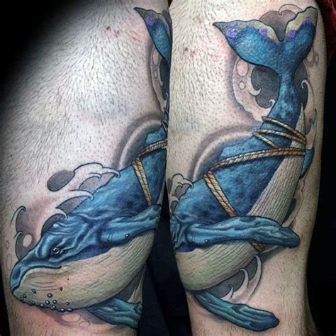 blue whale tattoo 100 whale designs for cool behemoths of the sea
