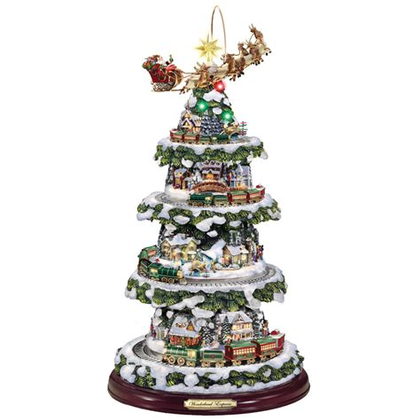 thomas kinkade pop up christmas tree home decorating