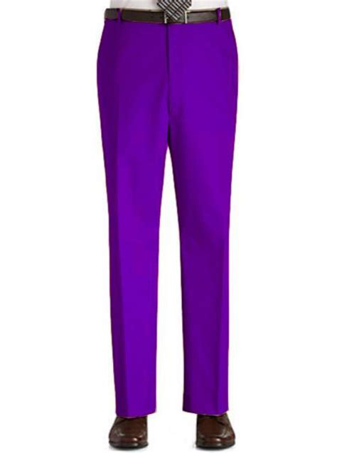 %name Colored Pants   The Purple Hue makes the Mens Dress Pants look a class apart