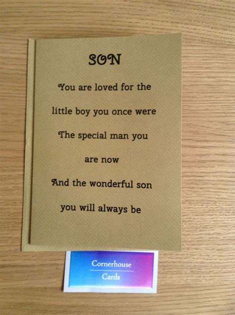 Card For Grown Up Son Special Sons  Ee  Birthday Ee   By