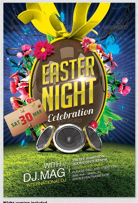 easter flyer template easter flyer template psd templates