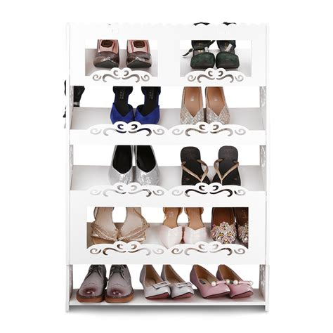 Closet Shoe Shelves Wood by 5 Tier Shoe Book Rack Organizer Wood Storage Closet