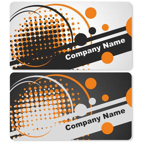 business name card template clipart vector for free use abstract business card set