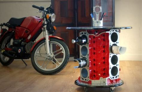 ford mustang 5 liter v8 engine block coffee table with