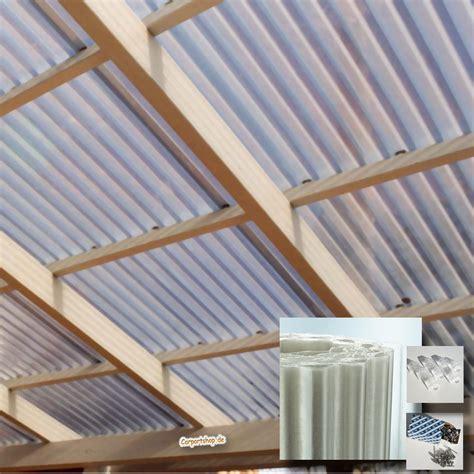 carport dach material dachplatte polyester 3x9 m lichtplatten set mit