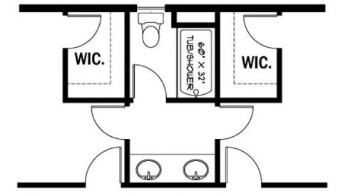 jack and jill bathroom layout pin by lindsey bogner on decorating pinterest
