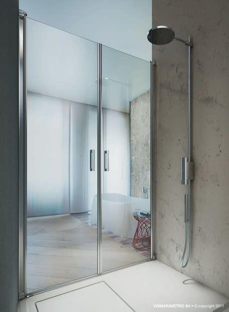 vismara doccia box doccia a nicchia su misura in vetro temperato linea lb