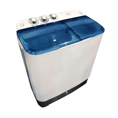 Mesin Cuci 2 Tabung Merk Midea jual midea mta77 mesin cuci biru 2 tabung