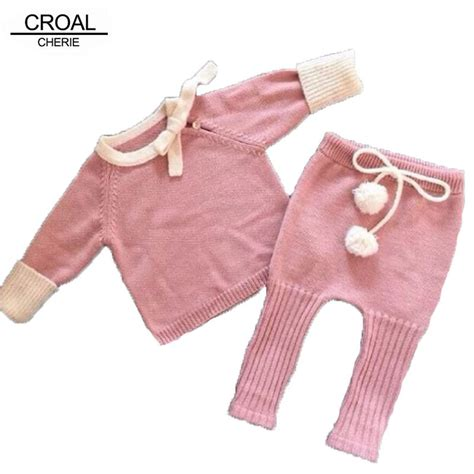 Handmade Clothes For Babies - handmade bow knitted newborn baby clothes winter