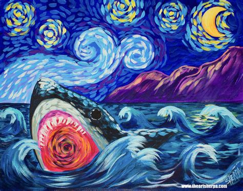 acrylic paint gogh sharky learn to paint like gogh in acrylic for