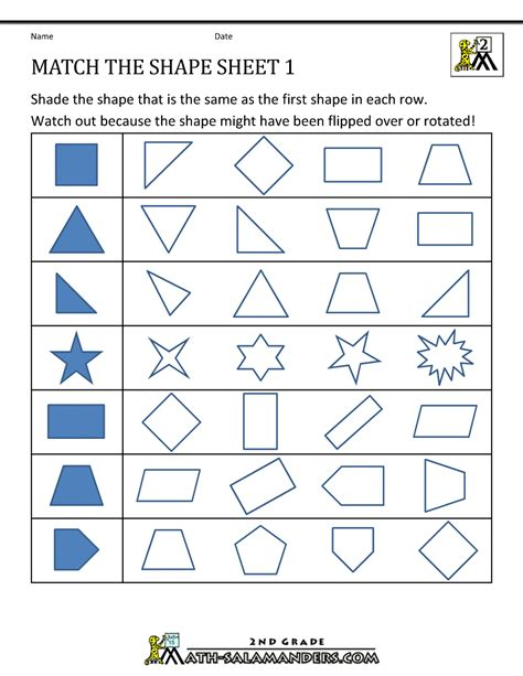 Polygon Shapes Worksheet by Geometry Shapes Worksheets 2nd Grade