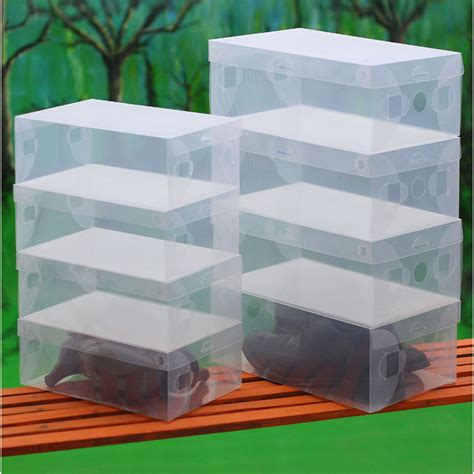 clear shoe storage boxes transparent clear plastic shoe storage box foldable