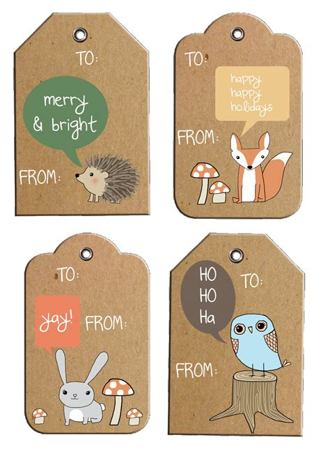 printable gift tags on pinterest rustic woodland holiday gift tags free printable
