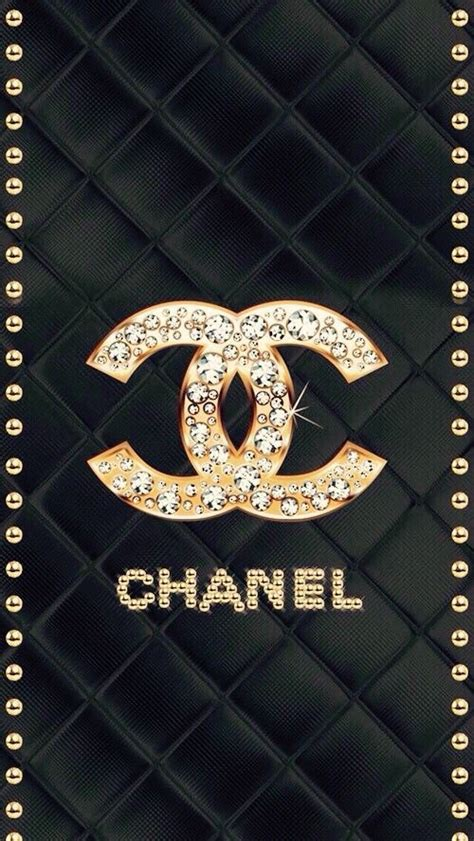 wallpaper chanel gold chanelロゴ キラキラジュエリー レザー chanelシャネルのロゴ スマホ壁紙 待ち受け画像 ブランド
