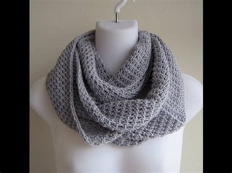 how to knit a muffler for beginners project infinity scarf
