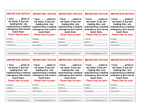 blood pressure wallet card template wallet sized forms