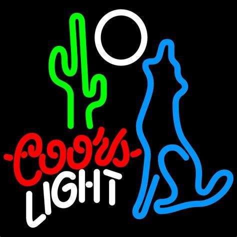 coors light neon sign coors light coyote moon neon sign neon
