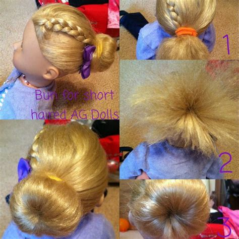 how to mack a bun in a dall hade 23 best images about american girl hair styles on