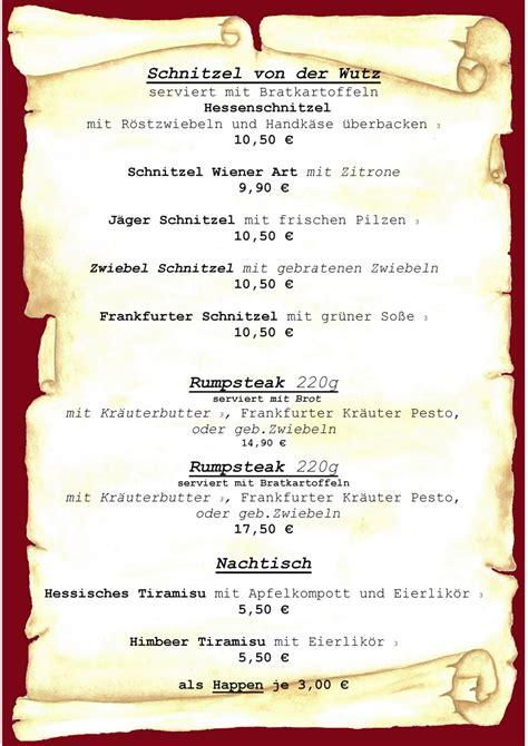 Word Vorlage Speisekarte Speisekarten Vorlagen Zum Gestalten 187 Saxoprint