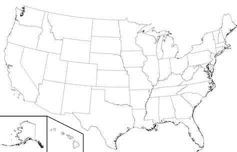 us states map blank template united states map template