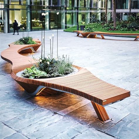Urban design metal furniture for outdoor and public spaces