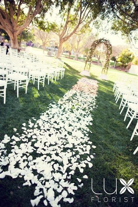 Wedding Aisle Flower Petals by Wedding Reception Petal Aisle