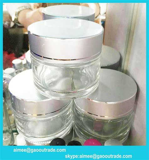 glass cream jar clear glass jar for personal skin care with sliver cap cosmetic jars buy