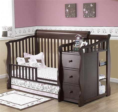 Crib With Changing Table And Drawers Crib With Attached Changing Table And Drawers Http Ezserver Us Crib Drawers