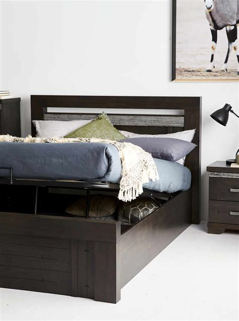 miami bed frame natural bedroom furniture forty winks malmo bed frame w gas lift storage bedroom furniture
