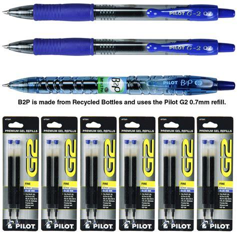 Refill Isi Ballpoint Pilot Refill G2 0 7 pilot g2 07 pen with refills 0 7mm blue gel ink 9 assortment pack ebay