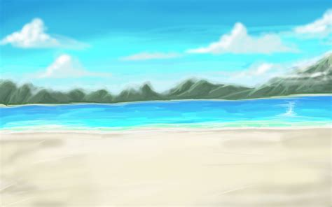 anime on beach anime style daytime beach by wbd on deviantart