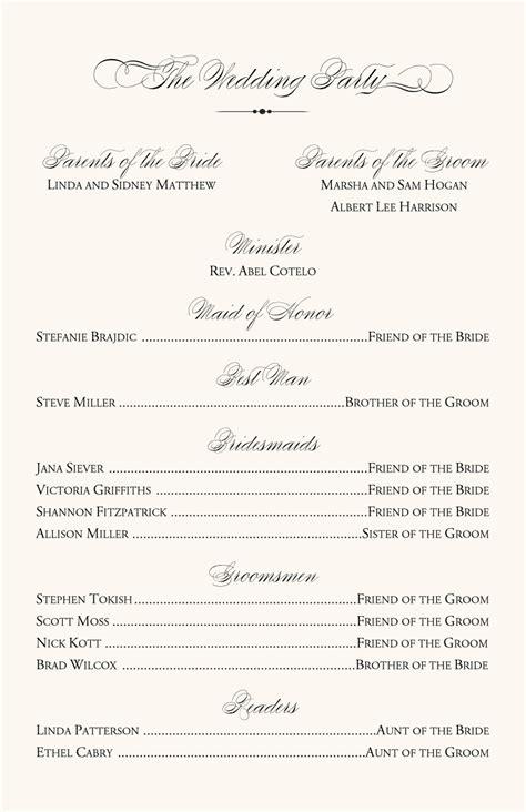Pin Christian Wedding Program Template Pdf On Pinterest Christian Wedding Program Templates