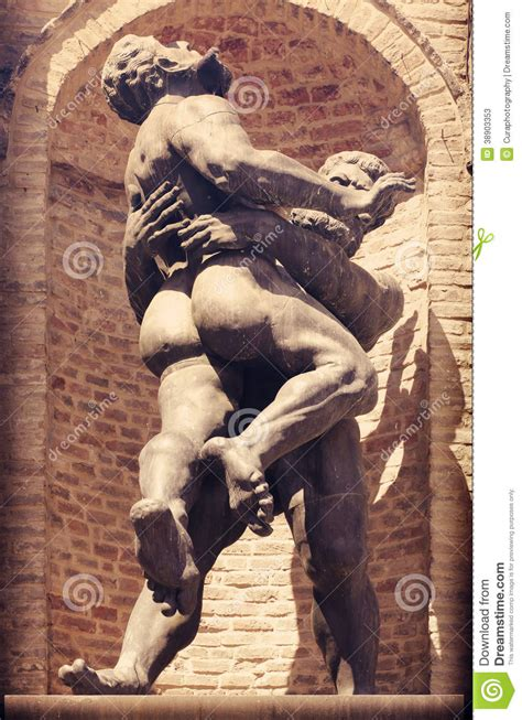 statue  muscular men stock photo image