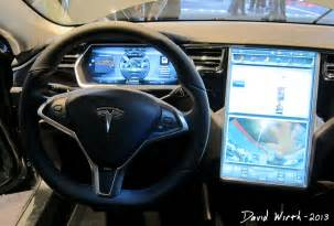Electric Car Tesla Interior Cars In Detroit