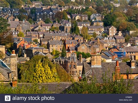 houses to buy in derbyshire view of rooftops and houses in matlock derbyshire peak district stock photo royalty