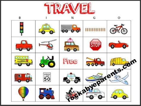 travel bingo card template card printable images gallery category page 35