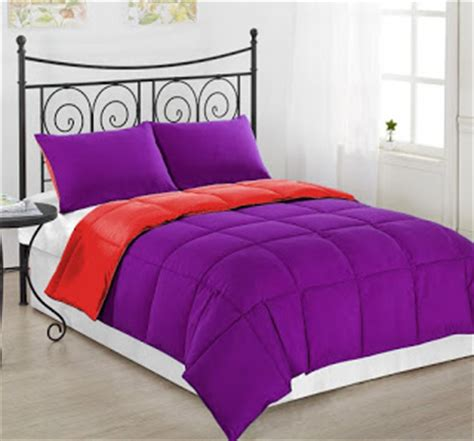 total fab solid purple teen bedding sets