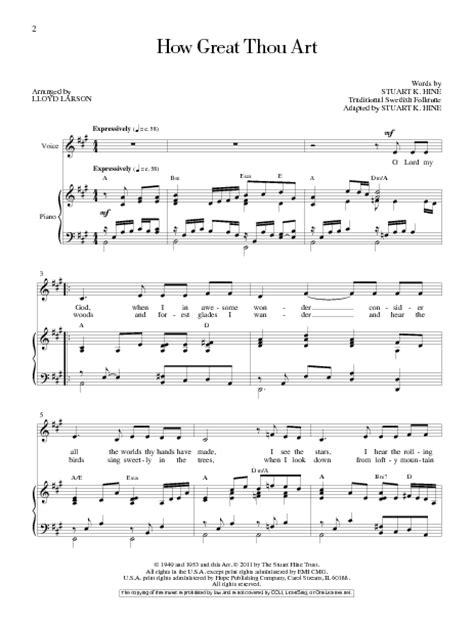 lyrics to how great thou art hymn