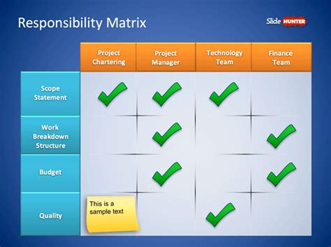 responsibility matrix template free roles responsibilities matrix powerpoint template
