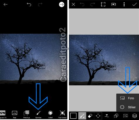 tutorial edit foto tutorial edit foto siluet milky way di picsart android